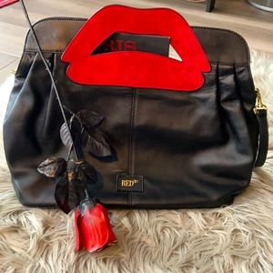 Valentino RED Shoulder Bag with Lips Detail